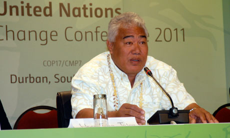 COP17 in Durban : The Ulu o Tokelau (Head of Government), Hon. Foua Toloa