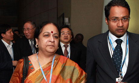 COP17 in Durban : Indian Minister of Environment Affairs Jayanthi Natarajan