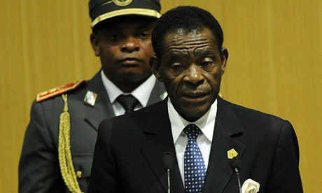 MDG: Obiang Nguema Basongo President Equatorial Guinea and Chairperson of the African Union