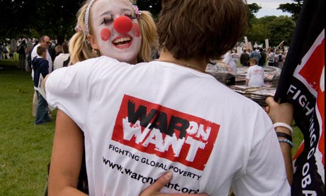 War On Want fighting global poverty rally
