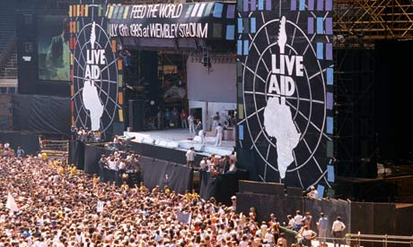 MDG : Live Aid concert at Wembley stadium, July 1985