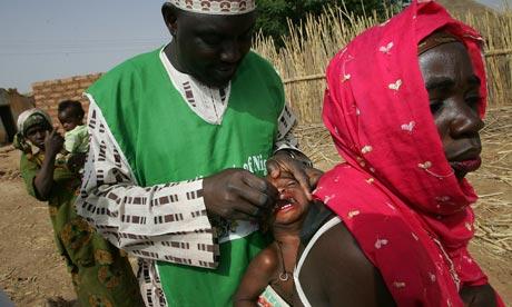 MDG : GAVI :  Innoculation of polio vaccine in Nigeria ( vaccination )