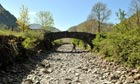 Drought in UK : River Derwent bone dry at Seathwaite