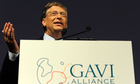 Bill Gates speaks at the Global Alliance for Vaccines and Immunisation ...