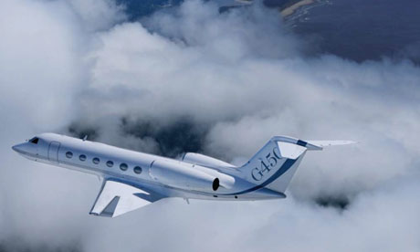 A Gulfstream 6450 first trans-Atlantic biofuel flights