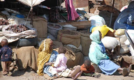 MDG : Women tend to their market stalls in the capital Asmara , Eritrea