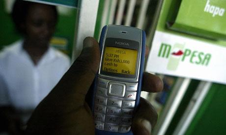 MDG : M-Pesa mobile phone service  in Kenya