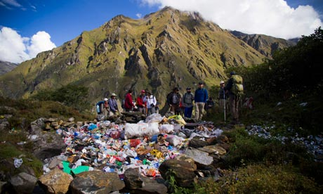 Suzanne blog : the trash dumpsite in the Khumbu