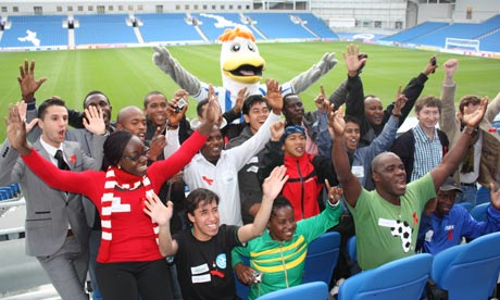 MDG : Football fights back against HIV/AIDS in Brighton