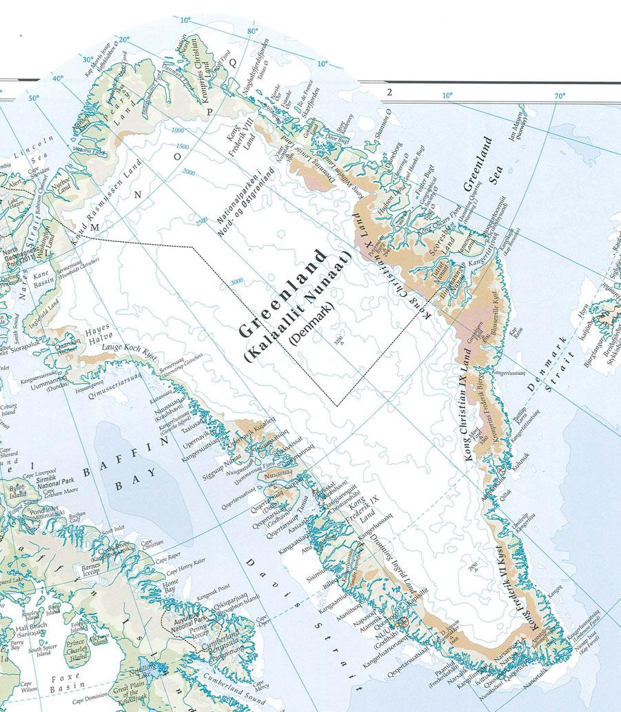 Где на карте находиться гренландия