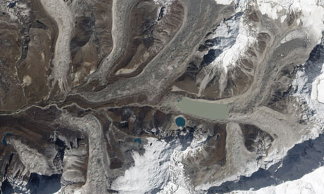 Imja glacier and Imfa lake in Himalaya, eastern Nepal