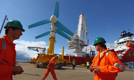 Green technologies for Orkney : World's Largest Tidal Power Turbine Is Unveiled