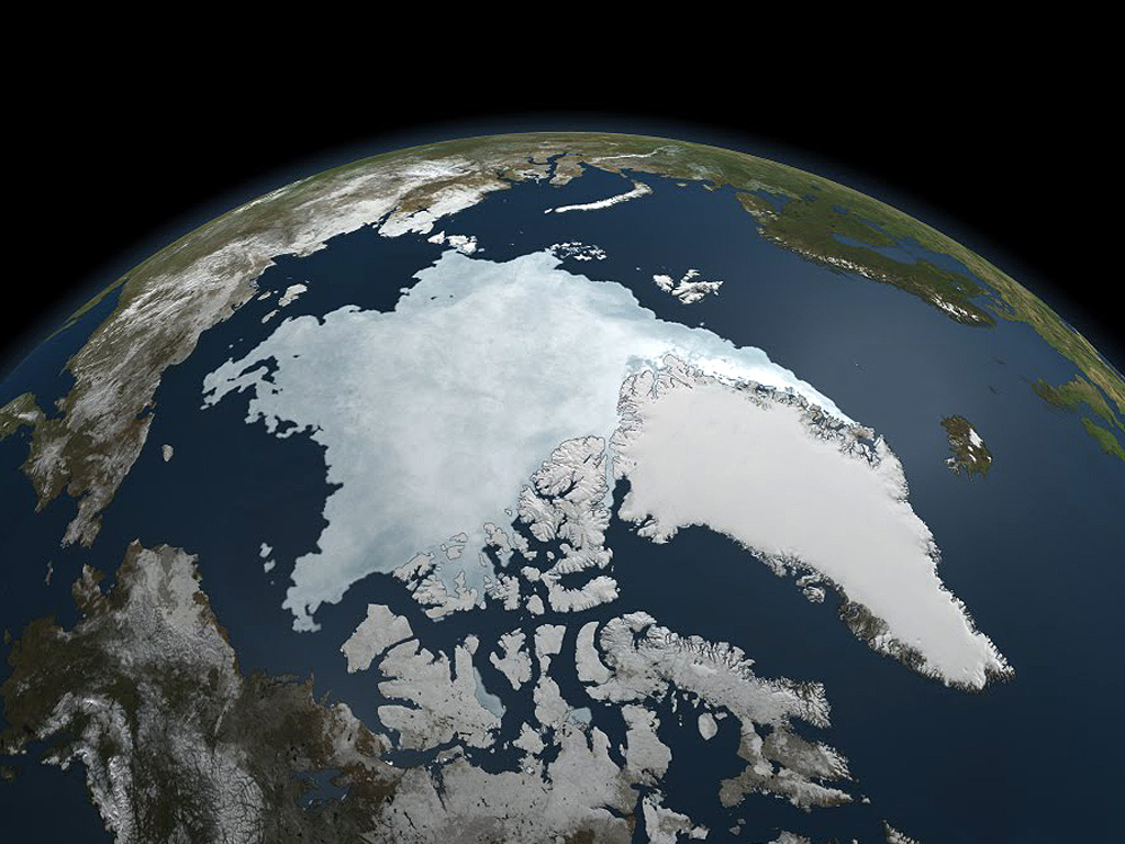 Sea ice in the Arctic Ocean at a record low