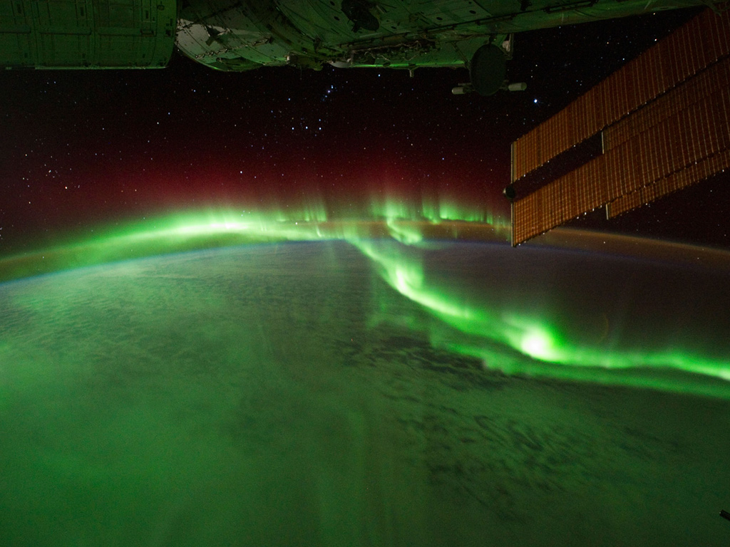 Aurora capture from the ISS