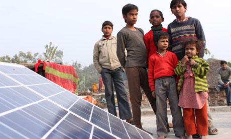 MDG : Mera Gao Power (MGP) microgrid site in Uttar Pradesh in India