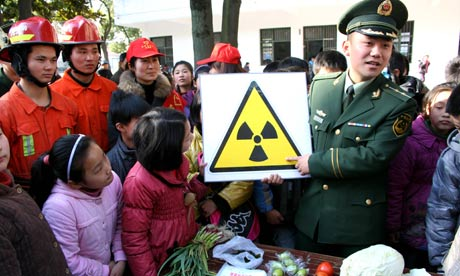 China environmental year : Chinese students learn about radiation awareness