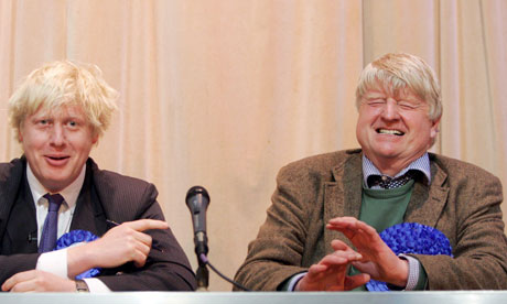 Boris Johnson with his father Stanley johnson Campaigning For The Conservative Party