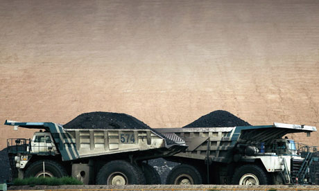 Damian blog on fossil fuel bubble : BHP Billiton's Mt Arthur coal mine in Australia
