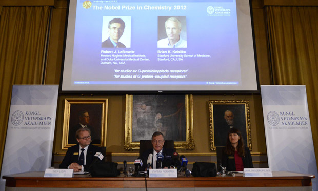 2012 Nobel Prize in Chemistry : Robert Lefkowitz and Brian Kobilka