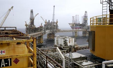 Oil platform Ekofisk in the North Sea, Norway