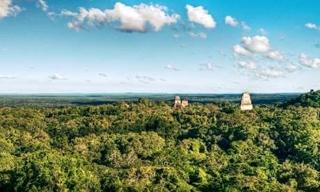 Maya Biosphere Reserve in Guatemala and Tikal National Park