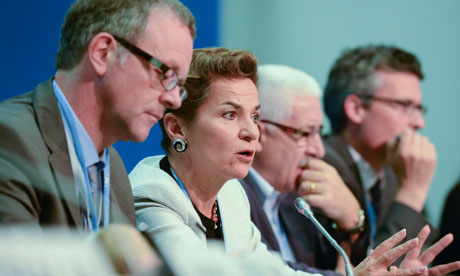 COP18 Doha  : Christiana Figueres during a joint news conference on Fast Start Finance (FSF)