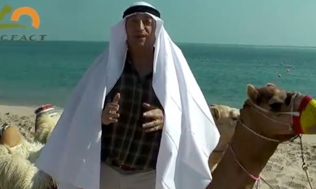 COP18 Doha : Lord Monckton from CFACT  dressed as a sheik during UN Conference on Climate Change