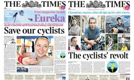 BIG Blog : The Times newspaper campaign,  Cities fir for cycling campaign