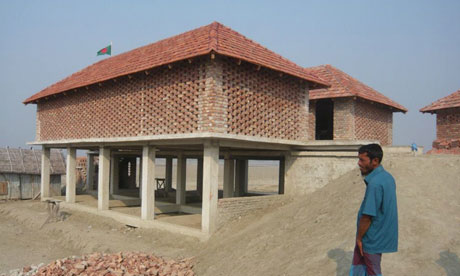 Bangladesh villagers still struggling after cyclone aila 39 s for Bangladeshi house image