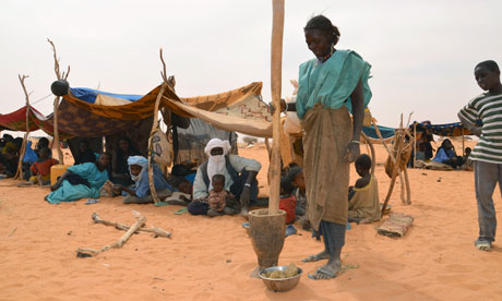 MDG : A Malian refugees camp in Chinegodar, western Niger, close to the border with Mali