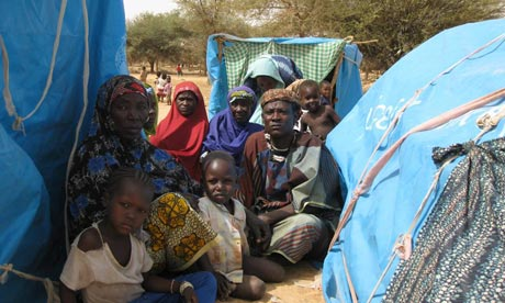 MDG : A Malian refugee in Niger, near border with Mali