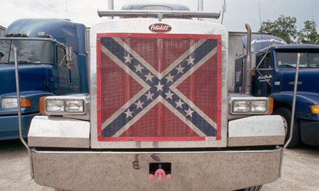 Fossil fuels and slavery : Truck With Confederate Flag