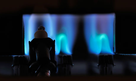 Damian blog on UK co2 emissions : Gas flame of boiler