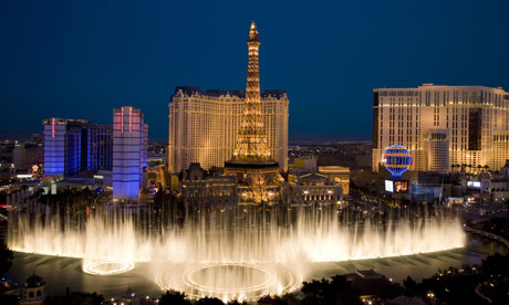 Las Vegas water crisis : View of Bellagio Fountain,