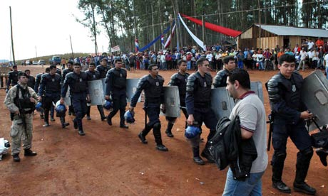 MDG : Land dispute between Paraguayan and Brazilian farmers