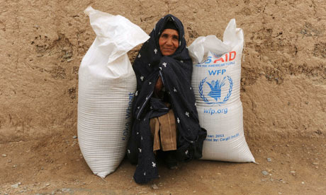MDG : OECD aid report : a food donation at a World Food Program (WFP) , Afghanistan