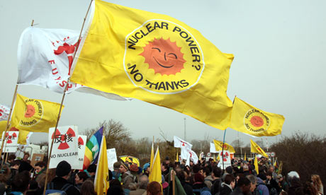 Hinkley C : Anti Nuclear Protesters Demonstrate Outside Hinkley Point Nuclear Power Station