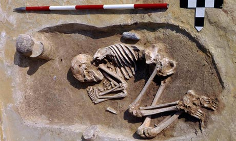 a male adze burial from the cemetery of Kleinhadersdorf, Austria