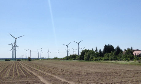 Damian in Germany : The village Feildheim with 43 wind turbines and biogas plant