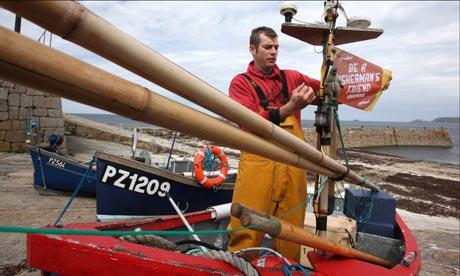Greenpeace ser la campaña de un pescador amigo, en Cornwall
