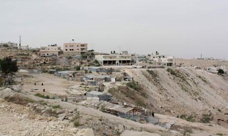 Refuse site in As Sawahira, West Bank, where bedouins from Negev desert have been relocated