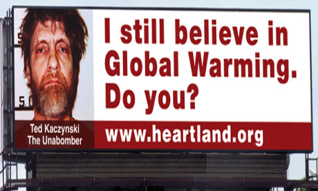 The Heartland Institute conference billboard in Chicago