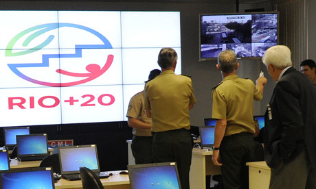 Rio+20 : logo at Security Control Centre