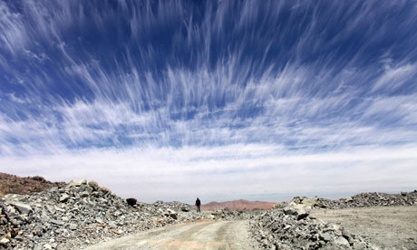 MDG : South America renewable energy potential : Atacama desert near Copiapo, Chile