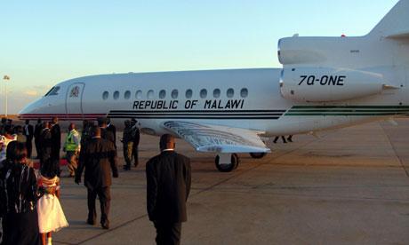 MDG : Malawi : Malawi  Joyce Banda Presidential Jet at Kamuzu International Airport in Lilongwe