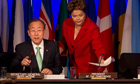 Rio+20 : Ban Ki-Moon and Dilma Rousseff at opening plenary of the United Nations Conference