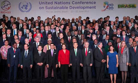 Rio+20 : Official photo with Heads of State and Delegations