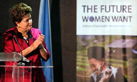 rio+20 : Brazilian President Dilma Rousseff attends