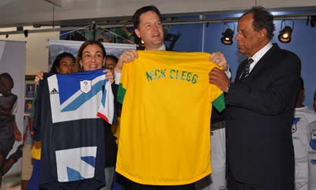 Rio+20 : Nick Clegg at Football Museum