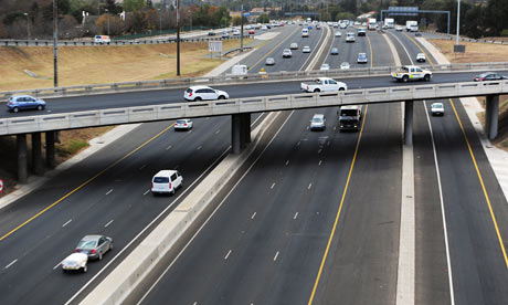 MDG : Road safety in South Africa : busiest interchanges in Johannesburg